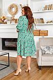 Легке жіноче батальне плаття на грудях з красивим вирізом і на шнурку (р. 50-64), фото 2