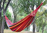 Мексиканський гамак бавовна 200 х 80 Різнобарвний Гамак для дачі, фото 5