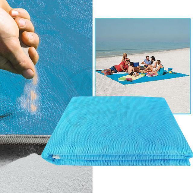 Пляжная подстилка анти-песок Sand Free Mat 150см*200см пляжный коврик, подстилка антипесок, пляжное покрывало