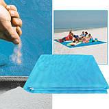 Пляжная подстилка анти-песок Sand Free Mat 150см*200см пляжный коврик, подстилка антипесок, пляжное покрывало, фото 4