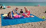 Пляжная подстилка анти-песок Sand Free Mat 150см*200см пляжный коврик, подстилка антипесок, пляжное покрывало, фото 6