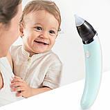 Детский аспиратор, аспиратор электронный, детский назальный аспиратор, безопасный детский соплесос, фото 5