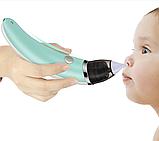 Детский соплесос, аспиратор назальный, детский аспиратор с аккумулятором, фото 2