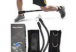Тренажер для бігу та стрибків, силових тренувань латеральний тренажер амортизатор для ніг Step Trainer, фото 3