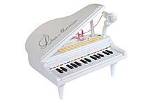Lb Детское пианино синтезатор Baoli с микрофоном 31 клавиши белое M17-223460