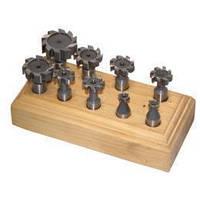 Фрези для Т-обраных пазів 9 шт.. / стрижень 12 мм / швидкорізальна сталь Holzmann TNF9TLG