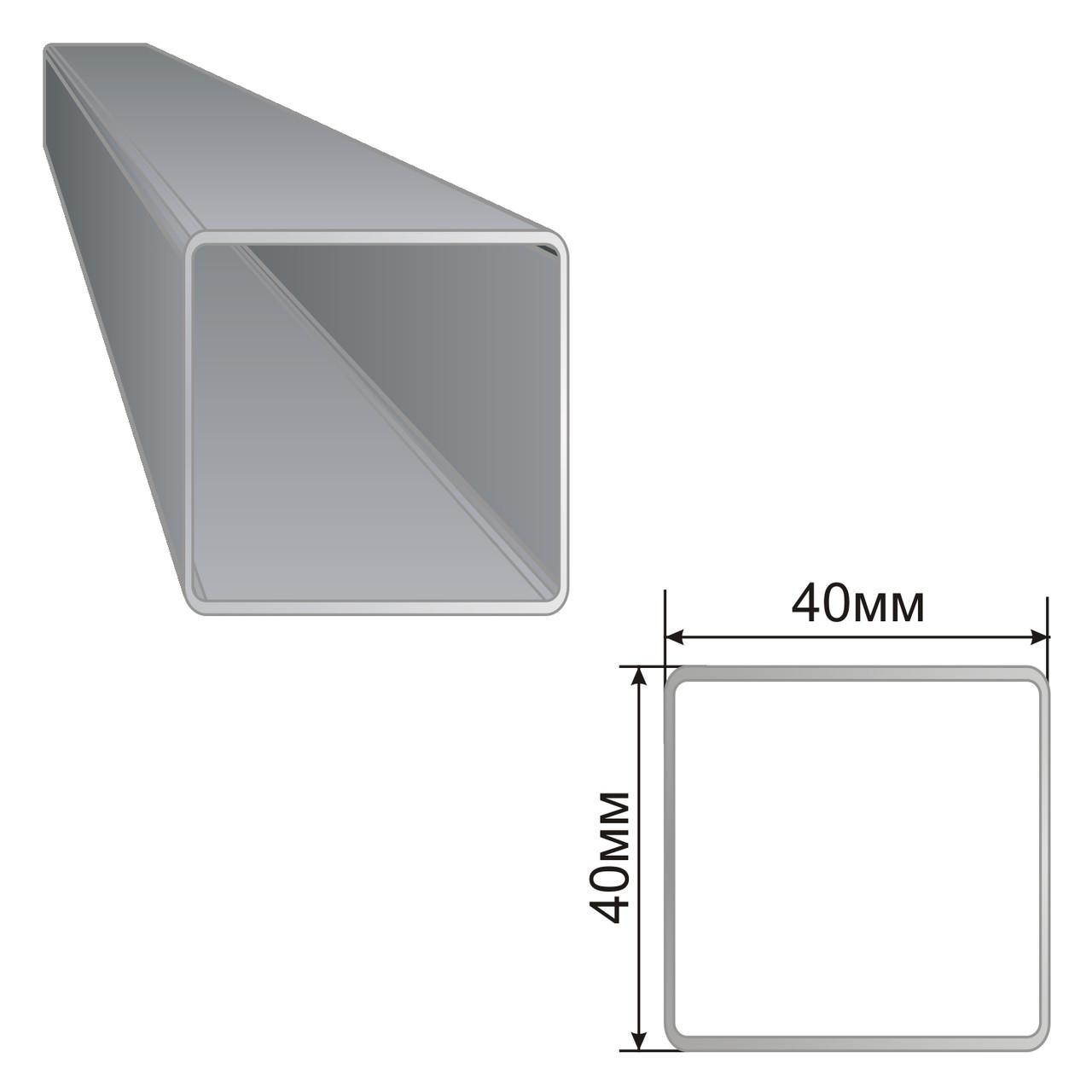 Армуючий профіль для вікон ПВХ 40х40х40х40