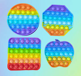 Pop It сенсорная игрушка, пупырка, поп ит антистресс, pop it fidget, попит, квадрат радужный