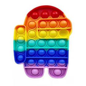 Pop It сенсорная игрушка, пупырка, поп ит антистресс, pop it fidget, попит, дудл разноцветный