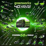 Повітродувка акумуляторна Greenworks BL40B01 40 V (оновлена G40AB). Модель 2020 року. З АКБ 2 Аг та ЗП, фото 7