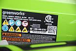 Повітродувка акумуляторна Greenworks BL40B01 40 V (оновлена G40AB). Модель 2020 року. З АКБ 2 Аг та ЗП, фото 9