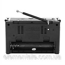 Радіоприймач колонка з радіо FM USB MicroSD і ліхтариком Golon RX-381 Black на акумуляторі