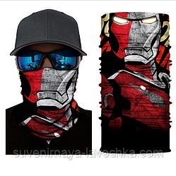 Мото баф Iron man skull II. Якісна маска на обличчя