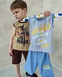 Комплект летний для мальчика майка и шорты