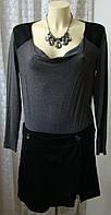 Платье женское вискоза стрейч шерсть мини бренд Deby Debo р.46 4688