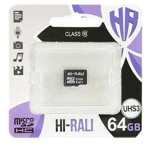 Карта памяти MicroSDHC 64GB UHS-I/U3 Class 10