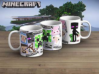 "Чашка Майнкрафт ""Pixels""/ Minecraft"