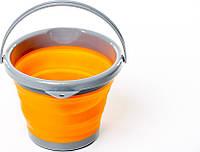 Ведро походное/ туристическое складное силиконовое Tramp 5L orange (трамп)