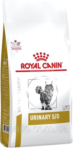 Сухой корм для взрослых котов с мочекаменной болезнью Royal Canin Urinary S/O Feline 1.5 кг (3182550711159)
