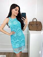 Мереживне облягає короткий жіноче плаття майка без рукавів р-ри 42-48 арт. 750