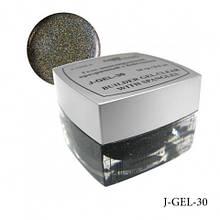 Прозрачный черный гель с микроблестками 14гр