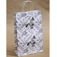 """Акция! Пакет подарочный крафт """"Письмо с печатью на белом"""" 24*37*10см Stenson (1028K) [Товар продаётся по"""