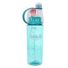 Спортивная бутылка для воды Lesko DF-078 600ml Голубой 4900-14380, КОД: 1931235