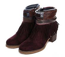 Жіночі черевики Kylie kantri 36 Бордовий 1660801Kyl36Bur, КОД: 1565276
