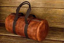 Сумка дорожная винтажная кожа GRANDE PELLE 11159 Рыжая, КОД: 1674416