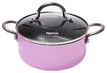 Кастрюля Fissman Mini Chef Pink 1.3 л с антипригарным покрытием psgFN-4238, КОД: 1480579