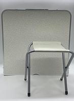 Стол для пикника с 4 стульями Folding Table (60х120 cм) серебро (50шт)