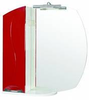 Зеркало Премиум (L) 75 красный (черный)