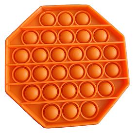 Pop It сенсорная игрушка, пупырка, поп ит антистресс, pop it fidget, попит, оранжевый восьмиугольник