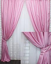 """Комплект (2шт. 1.5х2,5м.) готових жакардових штор, колекція """"Ванесса"""". Колір рожевий. Код 621ш 39-218"""