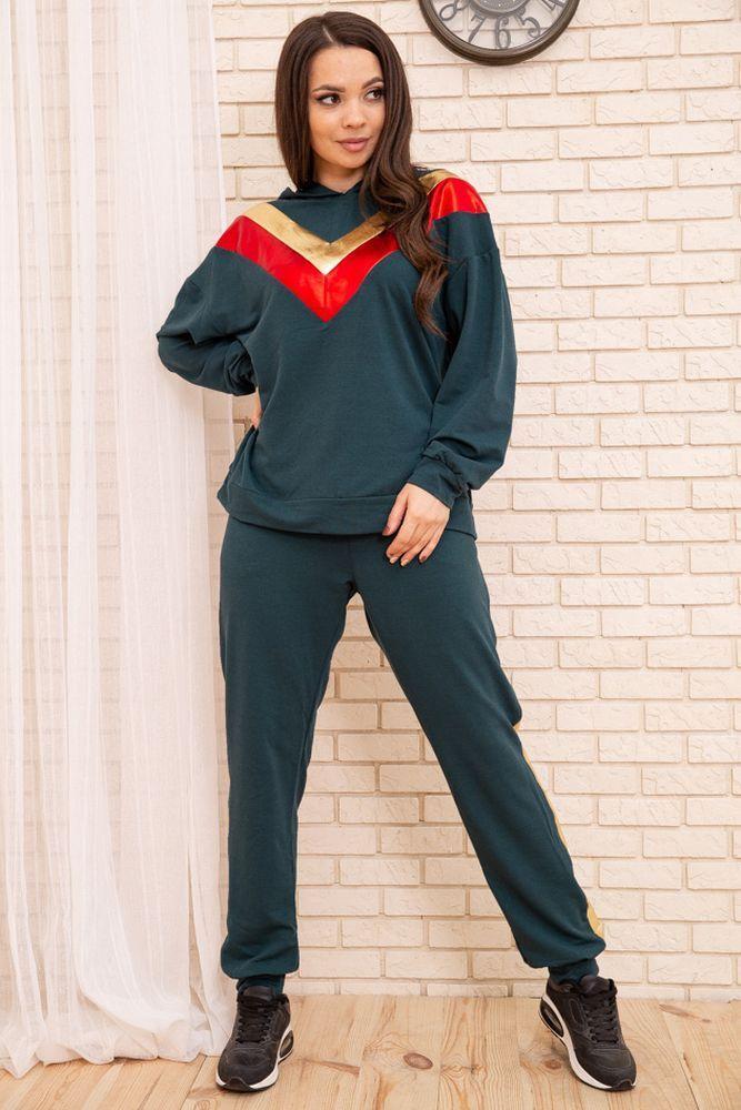 Спорт костюм жіночий 104R113 колір Зелений