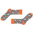 Шкарпетки Sammy Icon сірі з білими і помаранчевими блискавками Blixen Grey, фото 2