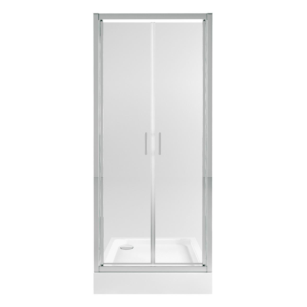 Набор Qtap дверь в нишу Gemini CRM209.C6 90х90 см + поддон Unisquare 309915 с сифоном