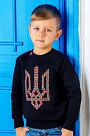 """Детский свитшот для мальчика """"Пиксельный тризуб"""""""