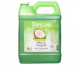 """Шампунь TropiClean Aloe & Coconut Pet """"Алое и кокос"""" для собак и кошек 3,8 л"""