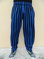 Штаны спортивные MORDEX размер L (сине-черная широкая полоска)