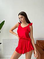 Женская шелковая пижама топ и шорты
