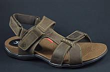 Мужские кожаные сандалии коричневые Antec 16