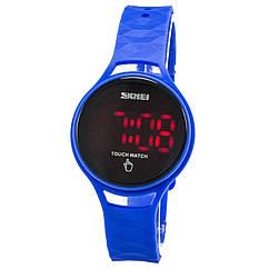 Часы электронные, спортивные LED Skmei 1230, синие, в металлическом боксе
