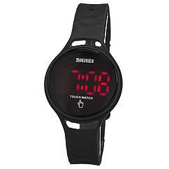 Часы электронные, спортивные LED Skmei 1230, черные, в металлическом боксе