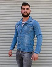 Мужская джинсовая куртка на пуговицах Сл 2018