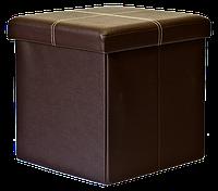 Пуф складной большой (цвет черный, коричневый, бежевый) 37,5х37,5х38 см