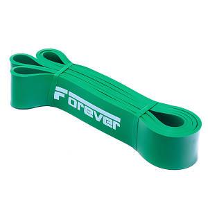 Гумова петля для фітнесу Forever Зелена (23-56 кг)