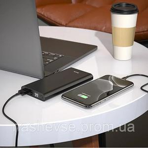 Портативное зарядное устройство Power Bank Hoco J68 10000  Черный для портативной техники внешний аккумулятор