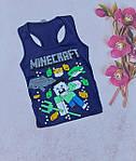 Хлопчачі боксерки модні Minecraft літні майки 5-8 років, фото 7