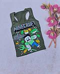Хлопчачі боксерки модні Minecraft літні майки 5-8 років, фото 10